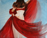 Bellydancer Paintings - Belly Dancer by Julie Lueders