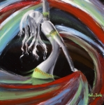 Dancer Paintings - Belly Dancer by Kelly Jade King
