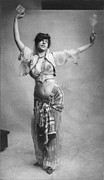 Bare Midriff Posters - Belly Dancing, Woman In Belly-dancing Poster by Everett