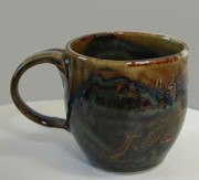 Mugs Ceramics - Belly Mug Waterfall Glaze by Patrick Trujillo
