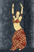Harem Digital Art Posters - Bellydancer Poster by Janet Carlson