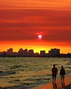 Beach - Belmont Shore Sunset by Timothy Bulone