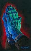 Signed Metal Prints - Belong Dead Metal Print by Ben Von Strawn