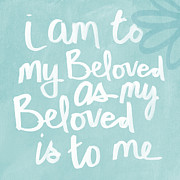 Quote Prints - Beloved Print by Linda Woods