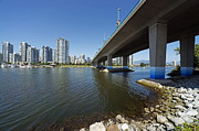 Bluesky Photo Prints - Below Cambie Bridge Print by Terry Dadswell