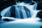 Water Flowing Posters - Below Tak Falls Poster by Larry Ricker