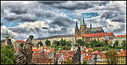 Charles Bridge Prints - Below the Castle Print by Jason Wolters