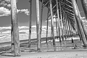 Paradise Pier Prints - Below the Pier Print by Betsy A Cutler East Coast Barrier Islands