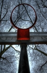 Basketball Digital Art Metal Prints - Below The Rim Metal Print by Bryan Hochman