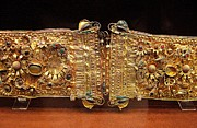 Gold Belt Prints - Belt with gems Print by Andonis Katanos