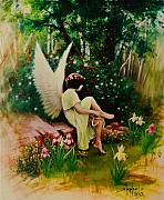Angel. Spiritual Prints - Beltaine Angel Print by Stephen Lucas