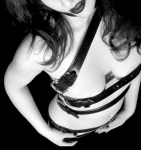 Breasts Photos - Belted 1 - Self Portrait by Jaeda DeWalt