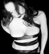 Breasts Photos - Belted 3 - Self Portrait by Jaeda DeWalt