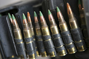 Saw Prints - Belted Bullets For An M-249 Squad Print by Stocktrek Images