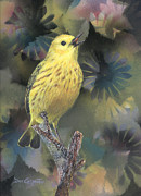Warbler Paintings - Belting Out A Tune by Dee Carpenter