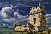 Unesco World Heritage Site Posters - Belum Tower in Lisbon Portugal Poster by David Smith