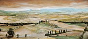 Tuscan Landscapes Paintings - Belvedere - Tuscany by Trevor Neal