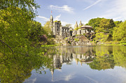 Pretty Clouds Prints - Belvedere Castle in Central Park Print by Bryan Mullennix