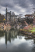 Spring Nyc Framed Prints - Belvedere Castle Vertical Framed Print by Ariane Moshayedi