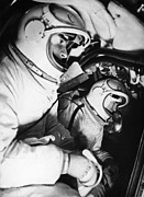 Astronauts Photos - Belyayev And Leonov, Soviet Cosmonauts by Ria Novosti