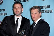 Award Prints - Ben Affleck, Matt Damon In Attendance Print by Everett
