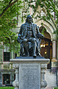 Founder Prints - Ben Franklin at the University of Pennsylvania Print by John Greim