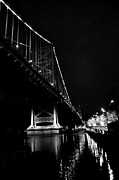Ben Franklin Bridge Prints - Ben Franklin Bridge and  Race Street Pier Print by Andrew Dinh