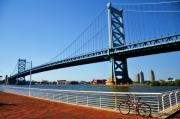 Ben Franklin Bridge Prints - Ben Franklin Bridge Print by Andrew Dinh
