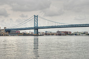 River Photos - Ben Franklin Bridge by Jennifer Lyon