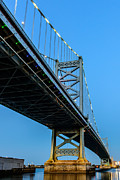 Ben Franklin Bridge Prints - Ben Franklin Bridge Print by Louis Dallara