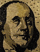 Founding Fathers Mixed Media Metal Prints - Ben Franklin Metal Print by Doug Powell