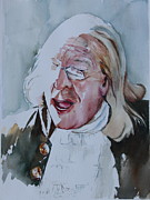 American Politician Painting Framed Prints - Ben Franklin of Philadelphia Framed Print by Peg Ott Mcguckin