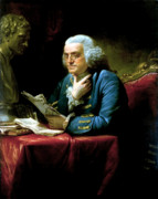 American Landmarks Painting Prints - Ben Franklin Print by War Is Hell Store