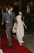 Beverly Hilton Hotel Photo Posters - Ben Gibbard, Zooey Deschanel Poster by Everett