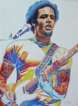 Musician Drawings Prints - Ben harper Print by Joshua Morton