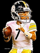 Football Digital Art Acrylic Prints - Ben Roethlisberger Acrylic Print by Stephen Younts