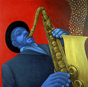 Saxophone Paintings - Ben Webster by Larry Smart