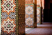 Mosaic Photo Framed Prints - Ben Youssef Medersa Framed Print by Kelly Cheng Travel Photography