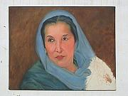 Ali Painting Originals - Benazir Bhotto by Shujaat Khan