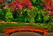Garden Flowers Photo Originals - Bench At Bouchart by Lawrence Christopher