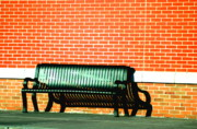 Park Benches Prints - Bench In Two Print by Emily Stauring