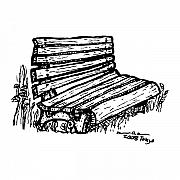 Ink Drawing Prints - Bench Print by Karl Addison