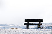 Snowy Night Night Prints - Bench Print by Odon Czintos