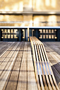 Workplace Metal Prints - Benches at The High Line Park Metal Print by Eddy Joaquim