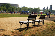 Smithsonian Photos - Benches on the Mall by Marianne Beukema