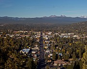Mt. Bachelor Framed Prints - Bend Oregon from Pilot Butte Framed Print by Twenty Two North Photography