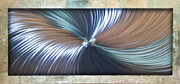 Wall-hanging Sculpture Posters - Bending Light Poster by Rick Roth