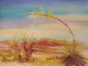 Summer Celeste Painting Prints - Bending Yucca Print by Summer Celeste
