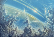 Clouds Prints - Beneath Saturns Rings Print by Don Dixon