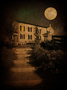 Full Moon Posters - Beneath the Perigree Moon Poster by Amy Tyler